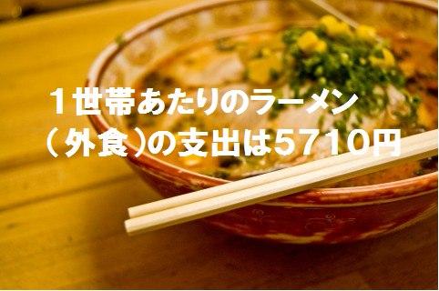 ラーメンの支出日本1
