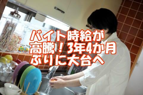 皿を洗う飲食店スタッフ