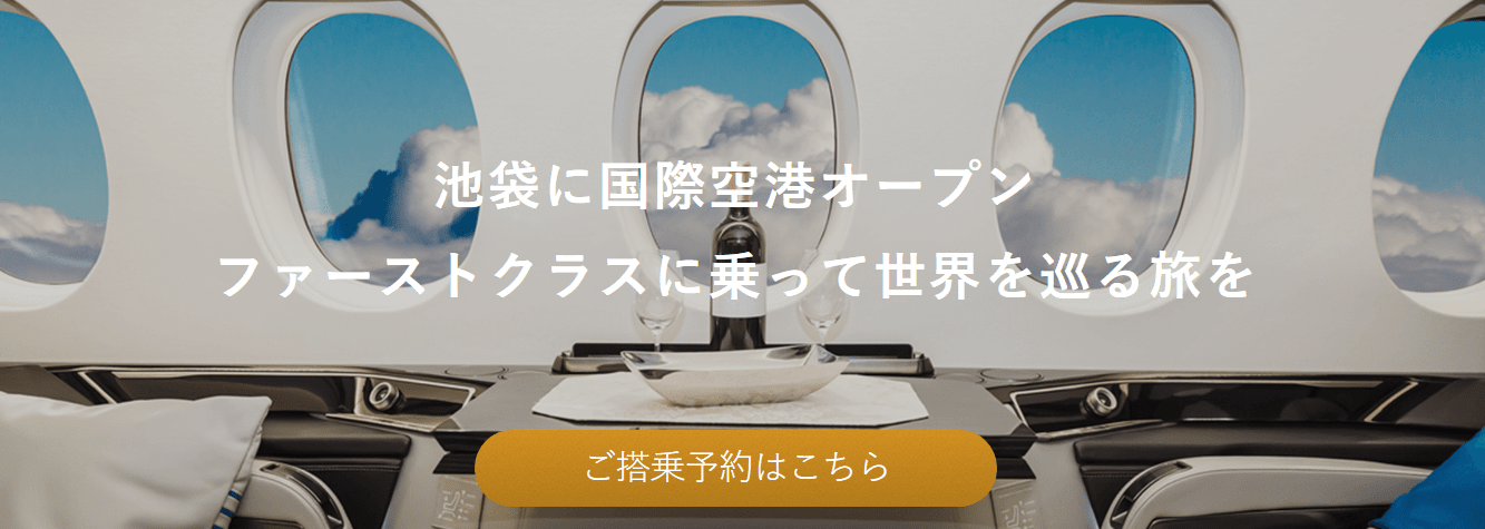 FIRST AIRLINESホームページ