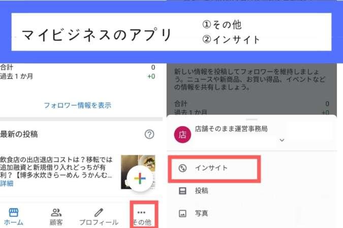 インサイトの表示