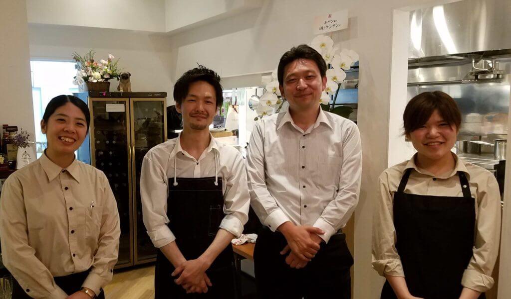 山田シェフとLupinのスタッフ
