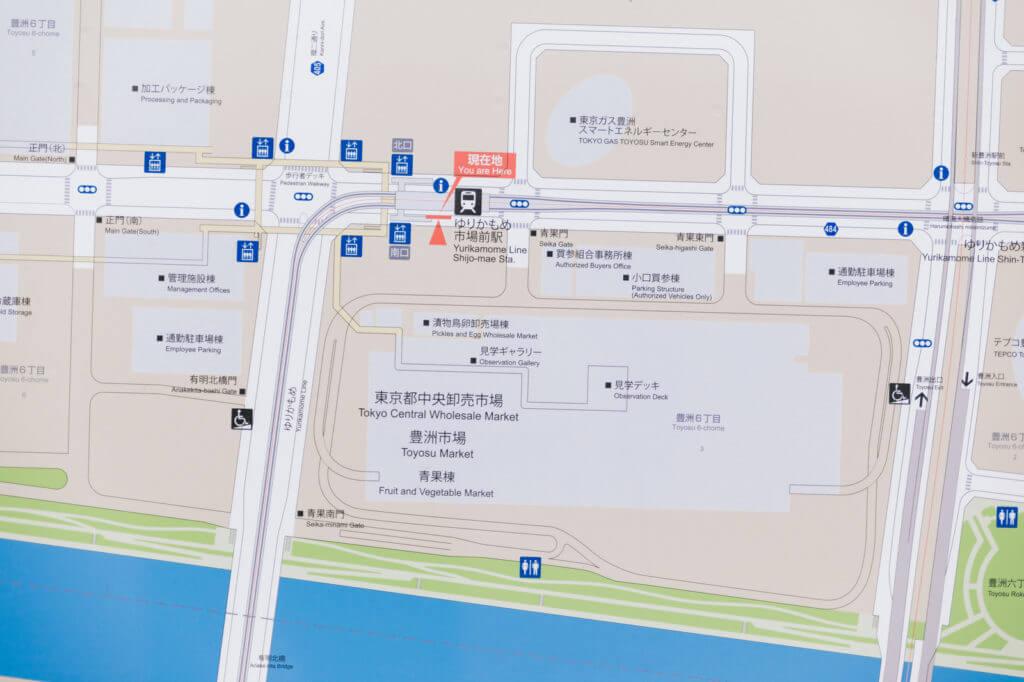 お店の場所を示す地図