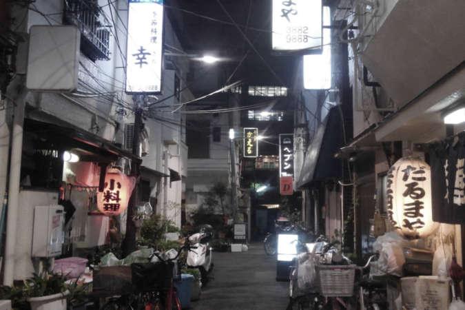 路面の飲食店
