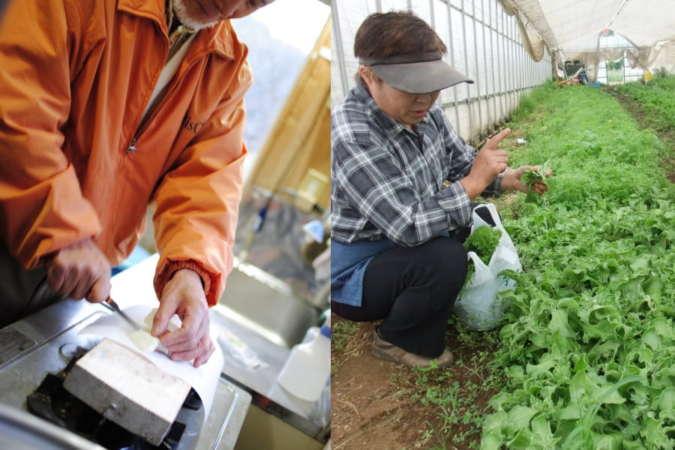 SARUで使用する食材を供給する農家
